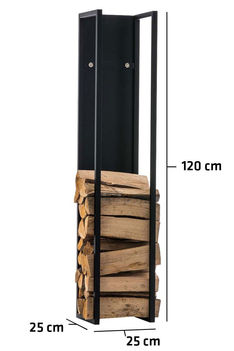 Kaminholzständer Spark-schwarz/matt-25x25x120 cm   Wohnzimmer > Kamine & Öfen > Kaminholzkörbe   Matt   Bauwerk Manufacture