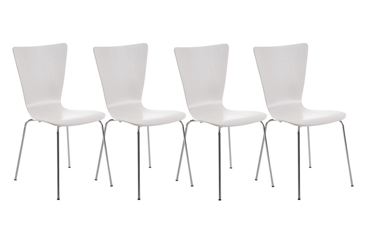 4er Set Besucherstuhl Aaron weiß | Büro > Bürostühle und Sessel  > Besucherstühle | CLP