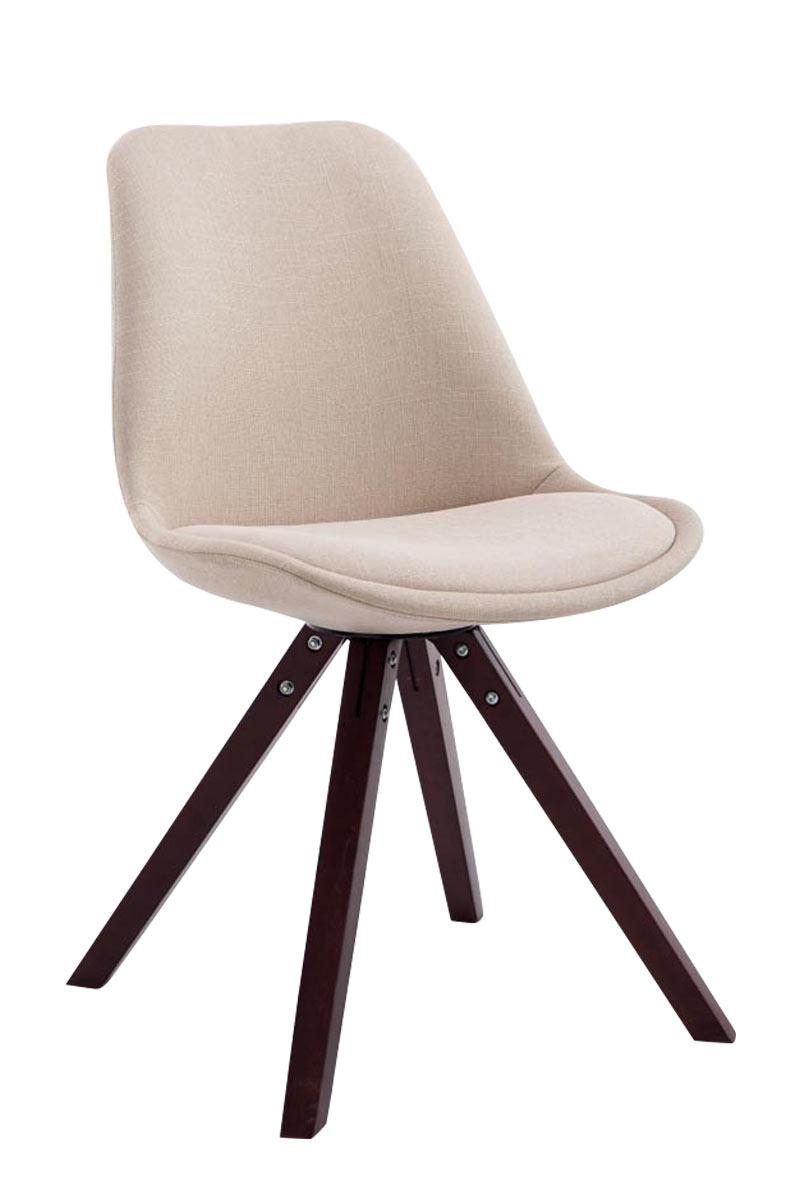 Besucherstuhl Toulouse Stoff Square -creme-Cappuccino | Büro > Bürostühle und Sessel  > Besucherstühle | Larico Design Möbel