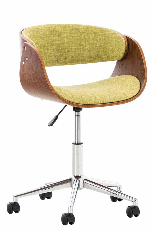 Bürostuhl Holzrahmen walnuss Stoff braun Sitzsachale Drehstuhl modern design