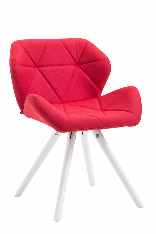 Besucherstuhl Tyler Stoff Rund-rot-Weiß | Büro > Bürostühle und Sessel  > Besucherstühle | Timwood Experience