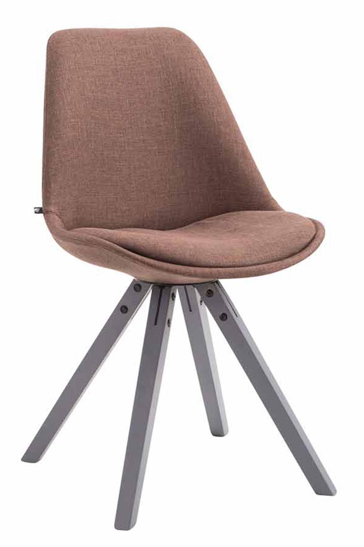 Besucherstuhl Toulouse Stoff Square -braun-Grau | Büro > Bürostühle und Sessel  > Besucherstühle | Larico Design Möbel