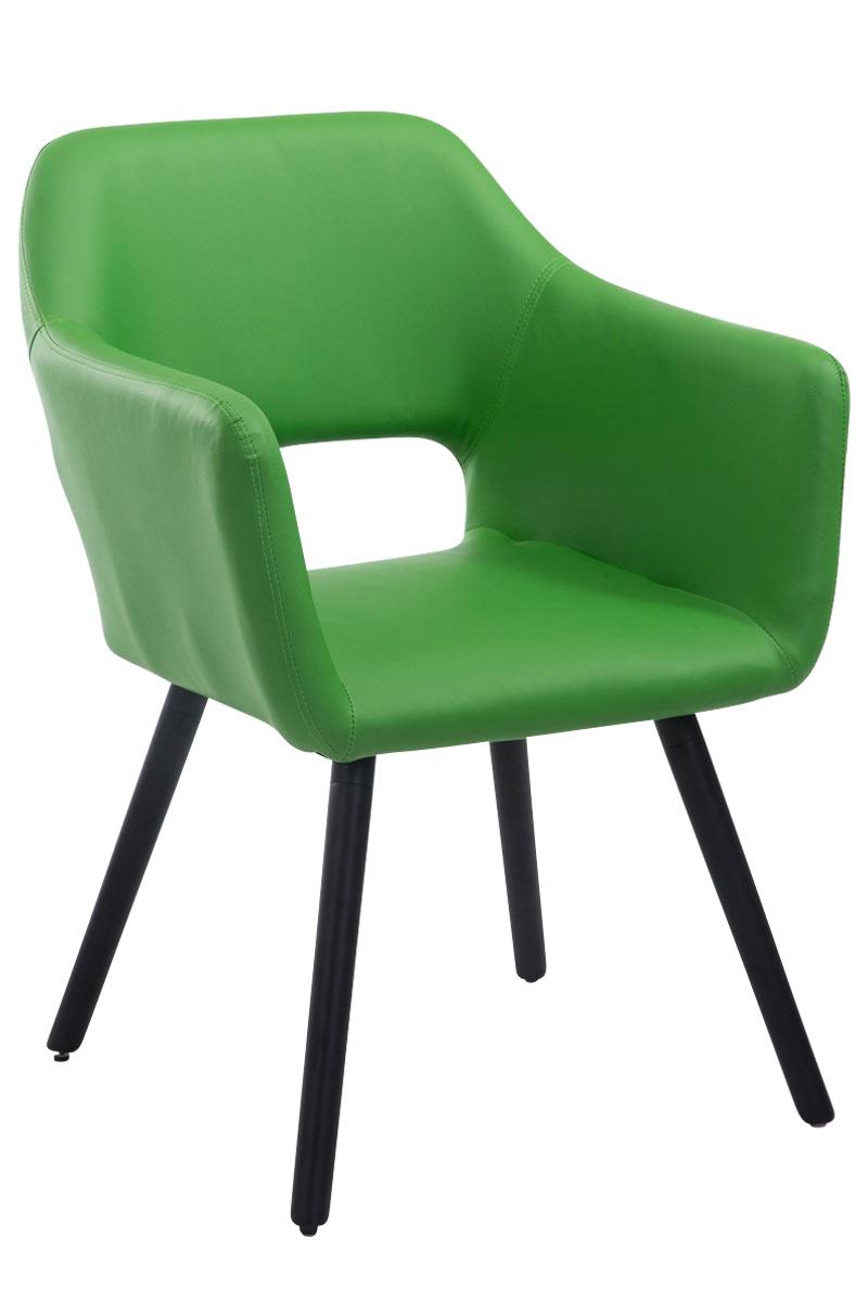 Besucherstuhl Auckland Kunstleder -grün-Schwarz (Eiche) | Büro > Bürostühle und Sessel  > Besucherstühle | Timwood Experience