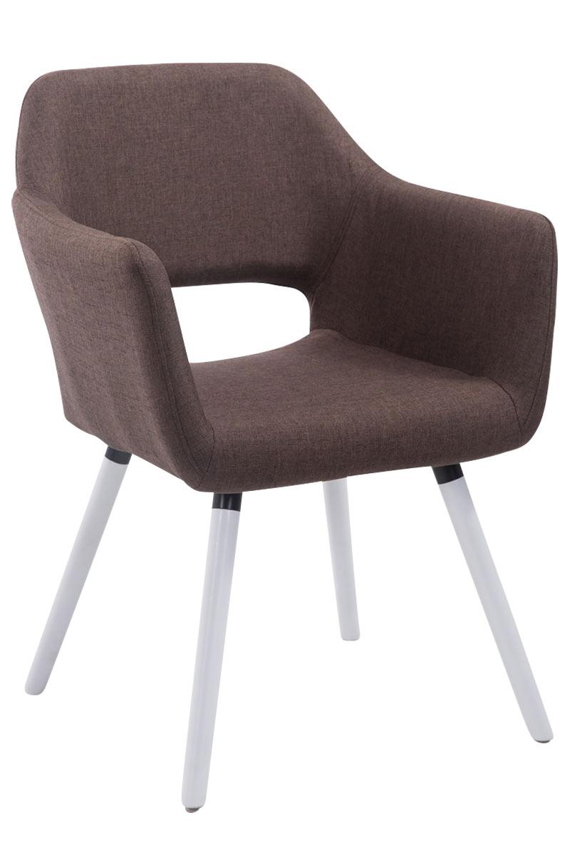 Besucherstuhl Auckland Stoff -braun-Weiß (Eiche) | Büro > Bürostühle und Sessel  > Besucherstühle | Timwood Experience