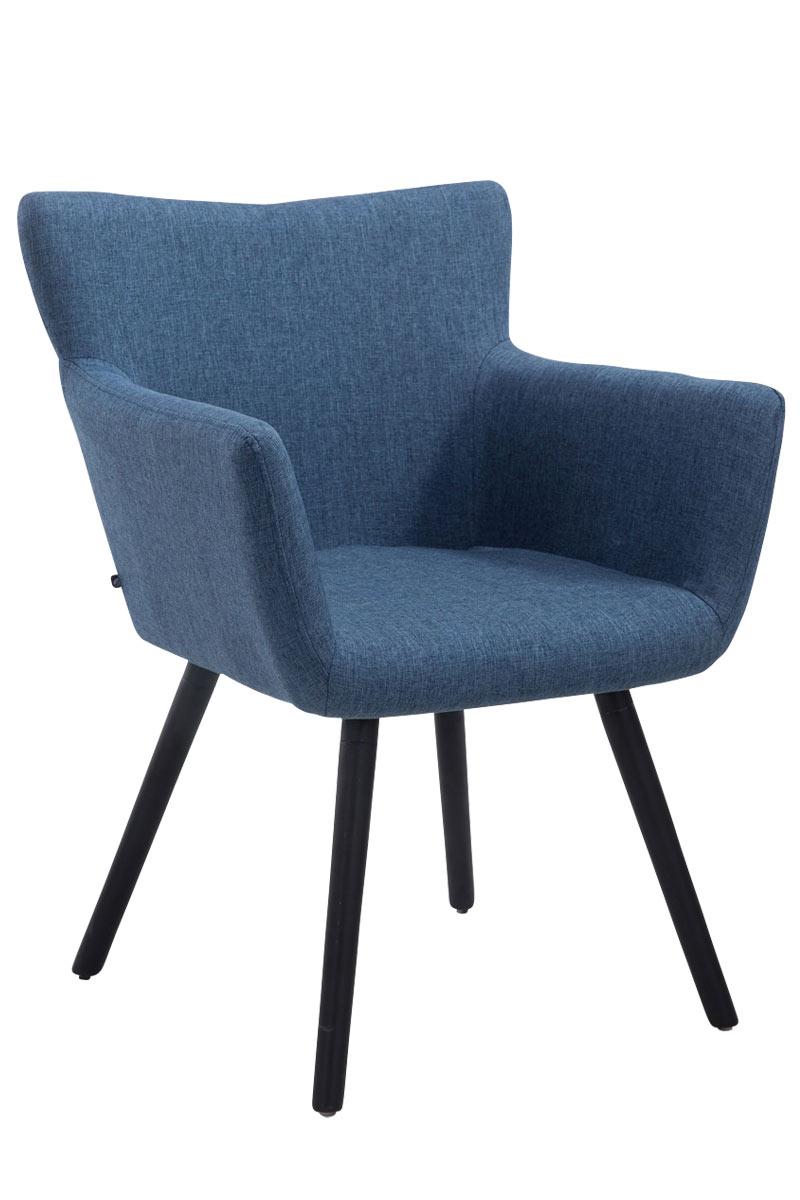 Besucherstuhl Antwerpen Stoff-blau-Schwarz (Eiche)   Büro > Bürostühle und Sessel  > Besucherstühle   Timwood Experience