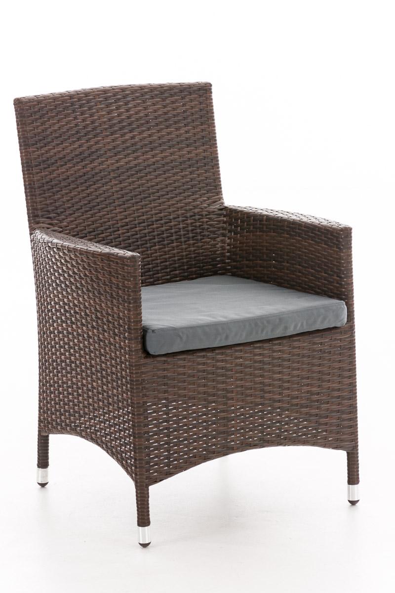 Polyrattan Stuhl Julia-braunmeliert-Eisengrau | Wohnzimmer > Sessel > Rattansessel | Loraville