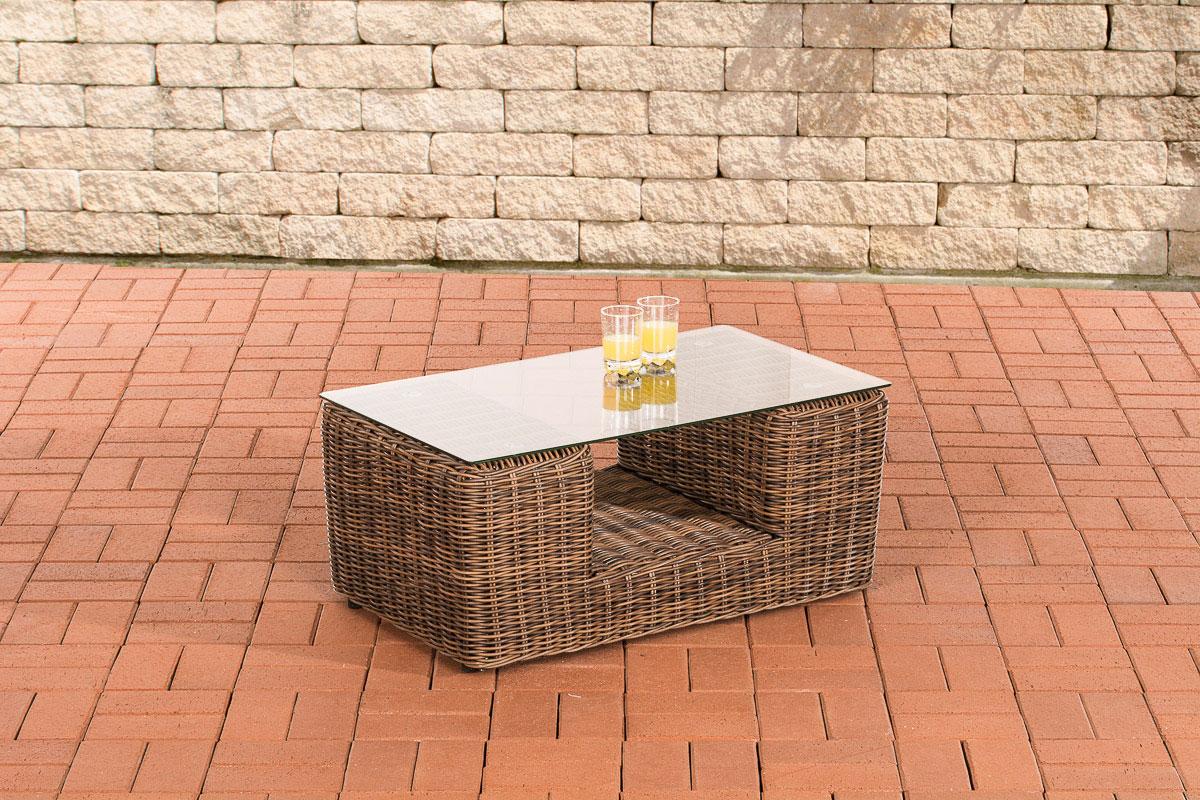 Glastisch Moss 80 x 50 cm-rund_braunmeliert | Wohnzimmer > Tische > Glastische | Loraville