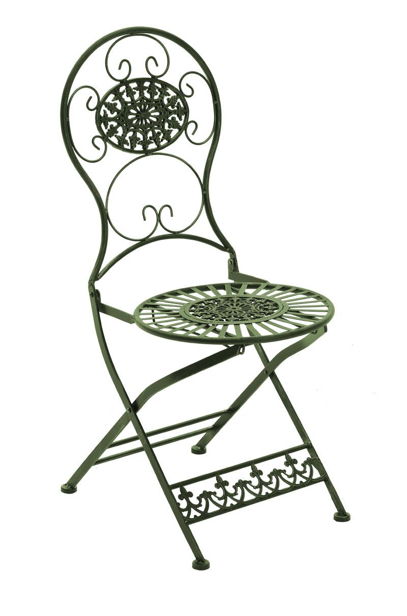Eisen Klappstuhl Mani-antik_grün | Küche und Esszimmer > Stühle und Hocker > Klappstühle | Grün | CLP