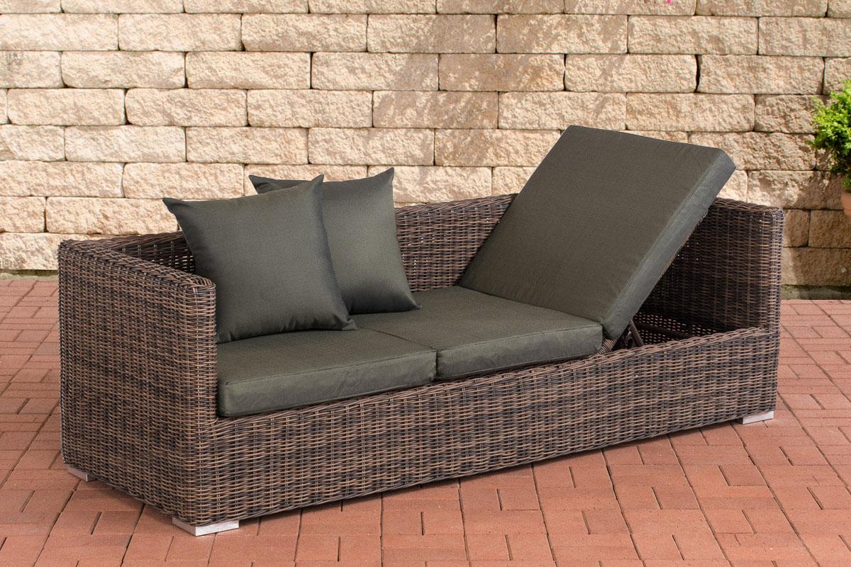 Lounge Sofa Solano 5mm Rundrattan Loungemöbel Gartenmöbel