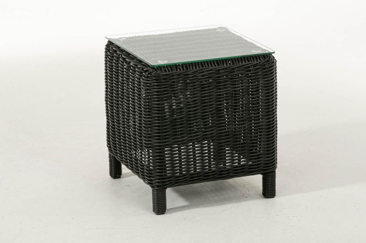 Glastisch Treviso 43 x 43 cm-rund_schwarz | Wohnzimmer > Tische > Glastische | Loraville