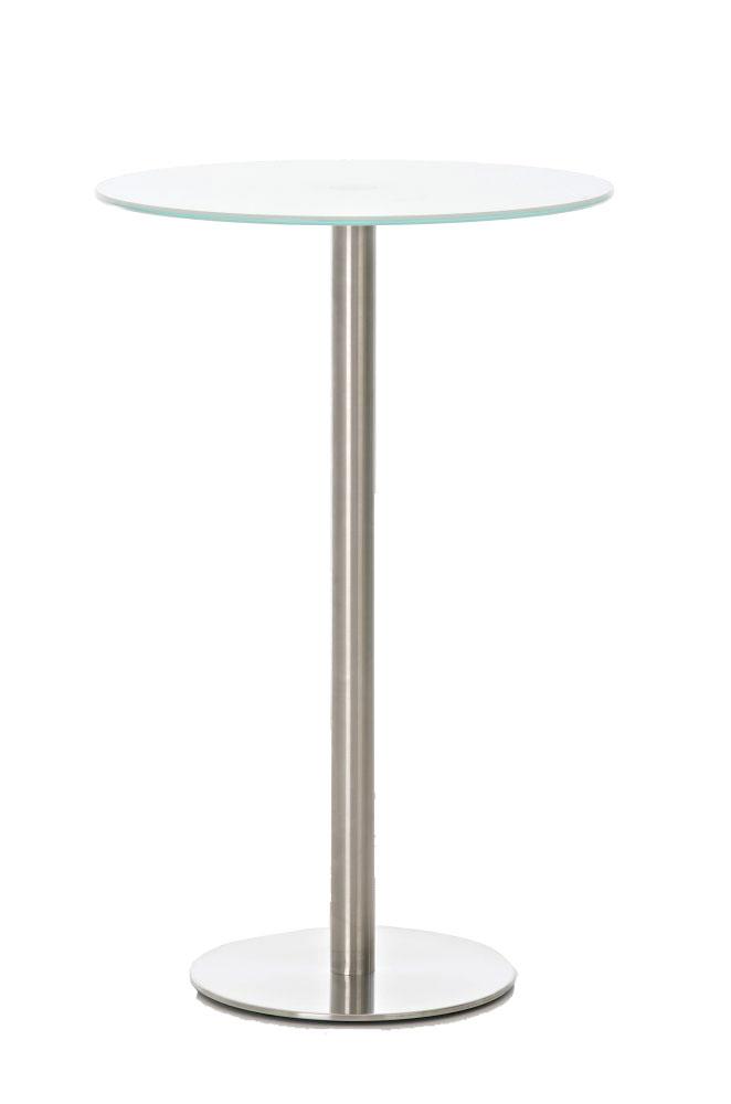 Glastisch Ben Ø70-weiß | Wohnzimmer > Tische > Glastische | CLP