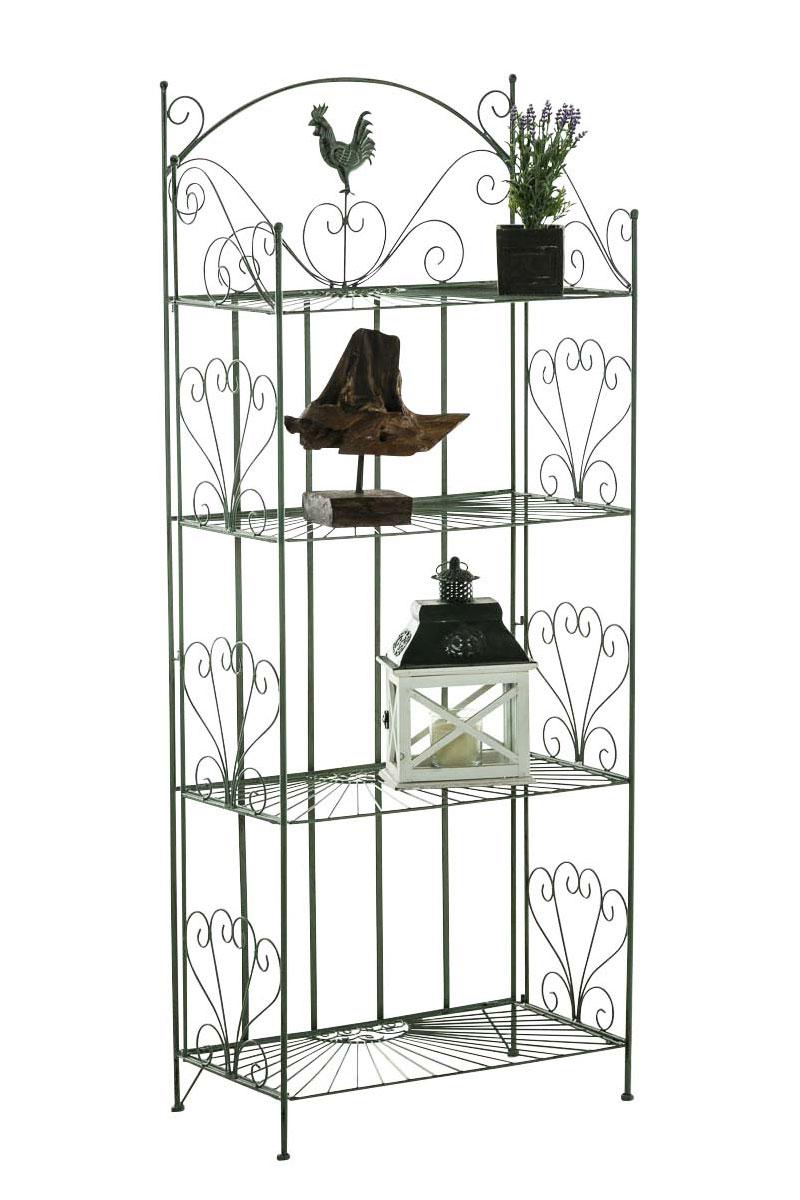 Standregal Mia aus Eisen-antik/grün | Wohnzimmer > Regale > Einzelregale | Grün | Loraville