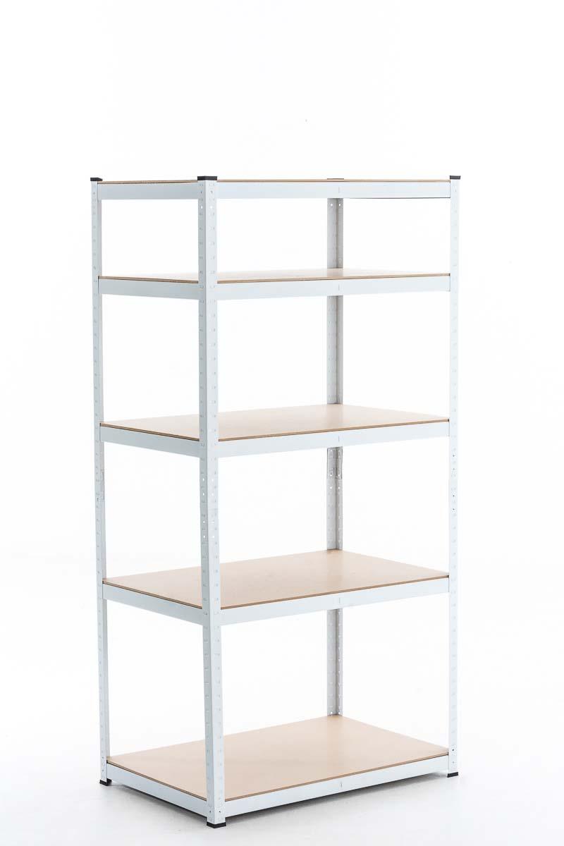 Steckregal, verschiedene Größen-weiß-90x40x180 cm   Baumarkt > Werkbank   CLP
