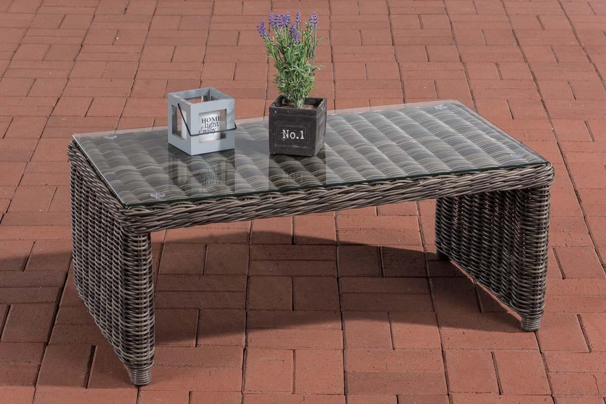 Glastisch Montero-rund/graumeliert | Wohnzimmer > Tische > Glastische | Loraville