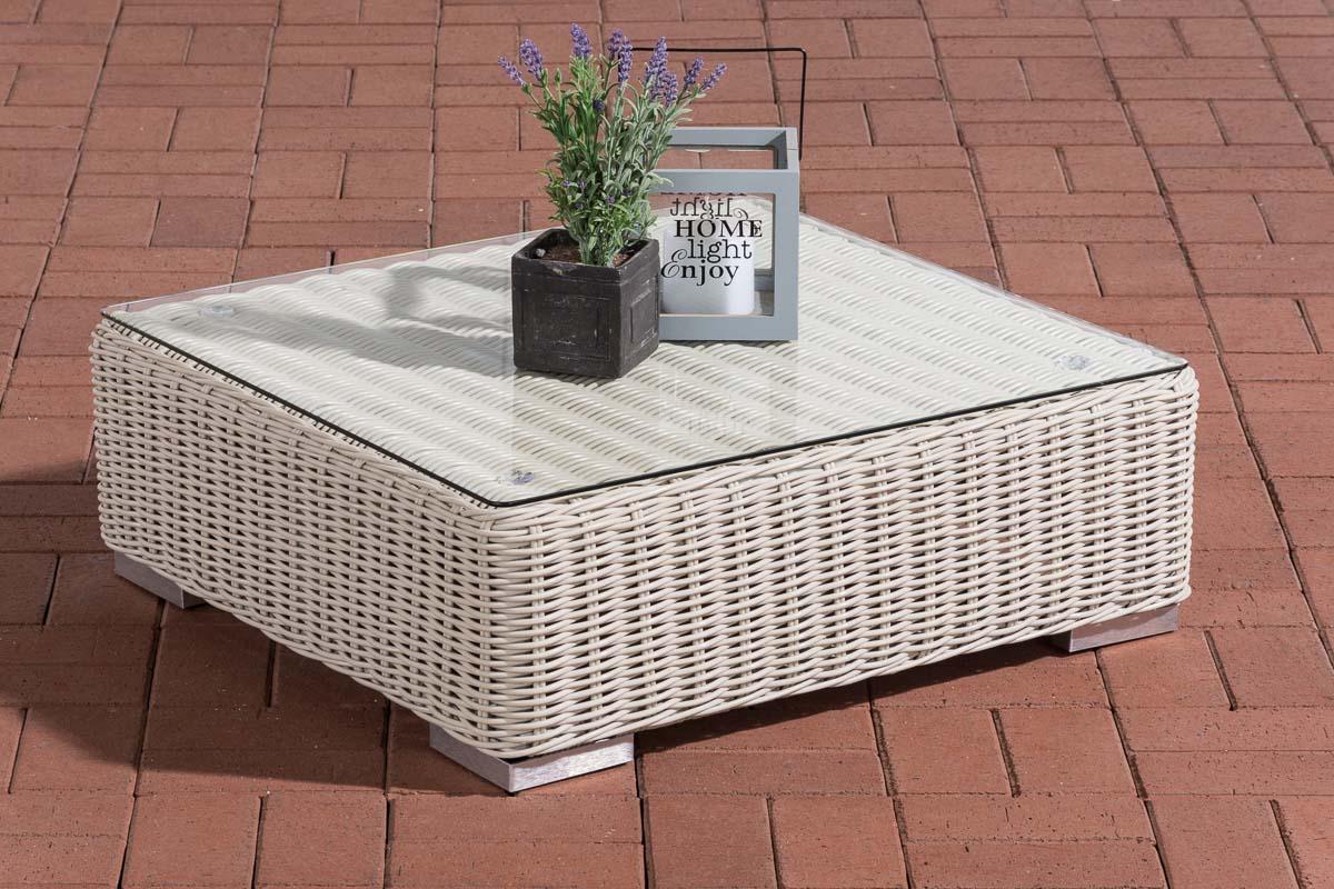 Glastisch Pamplona 70 x 70 cm-rund/perlweiß | Wohnzimmer > Tische > Glastische | Loraville