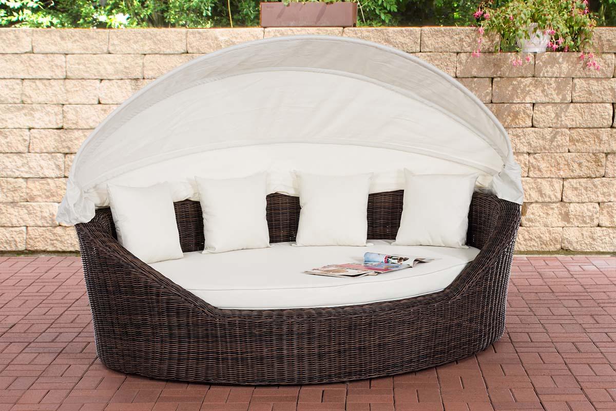 Sonneninsel Cancun 5mm-rund/braunmeliert-Cremeweiß | Garten > Strandkörbe > Sonneninseln | Loraville