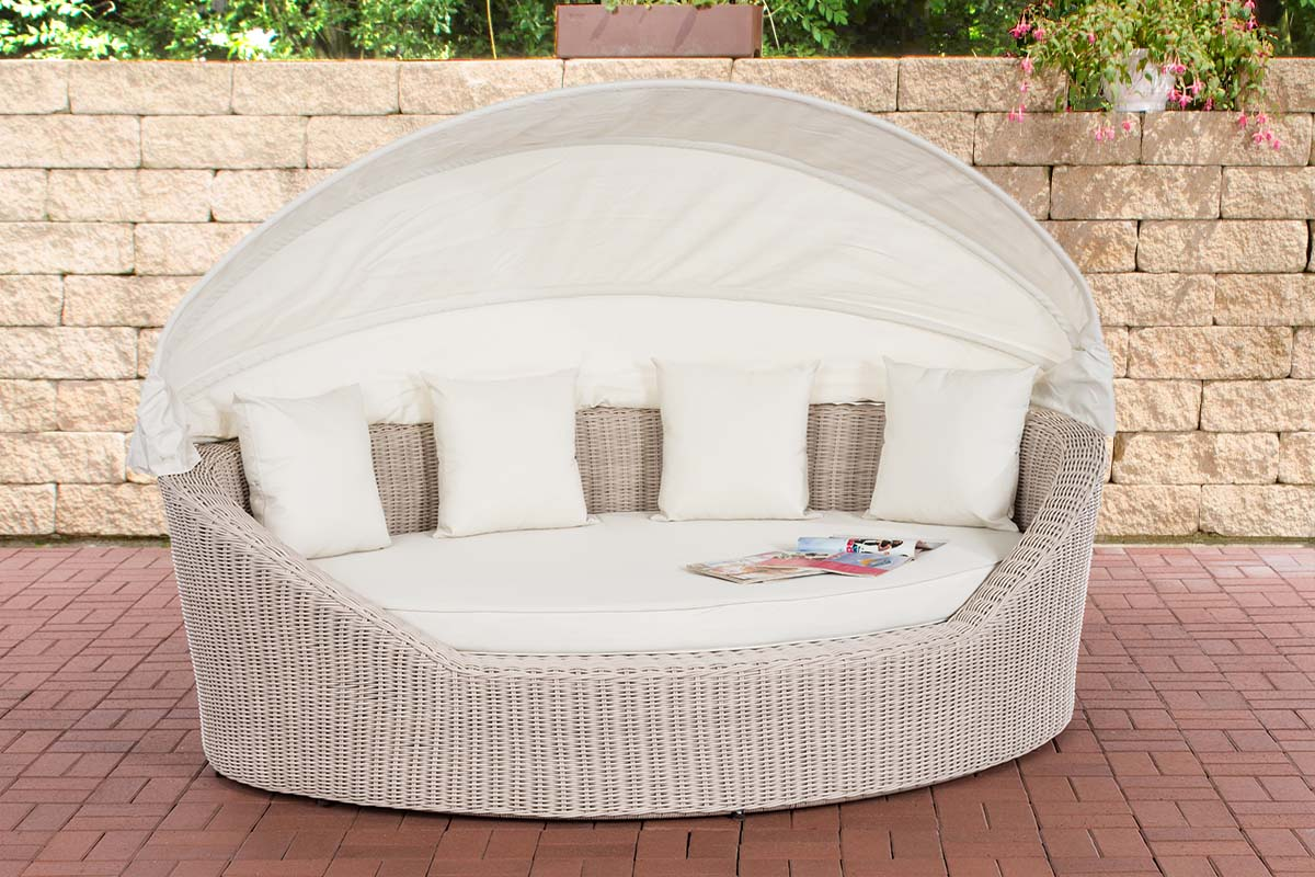 Sonneninsel Cancun 5mm-rund/perlweiß-Cremeweiß | Garten > Strandkörbe > Sonneninseln | Loraville