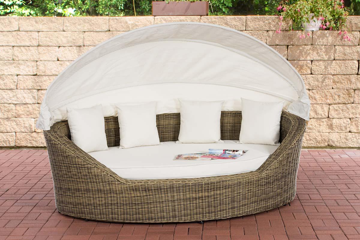 Sonneninsel Cancun 5mm-rund/natura-Cremeweiß   Garten > Strandkörbe > Sonneninseln   Loraville