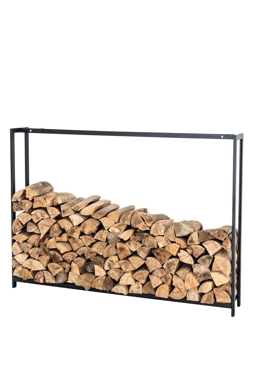 Kaminholzständer Forest-schwarz/matt-150x170 cm | Wohnzimmer > Kamine & Öfen > Kaminholzkörbe | Matt | Bauwerk Manufacture