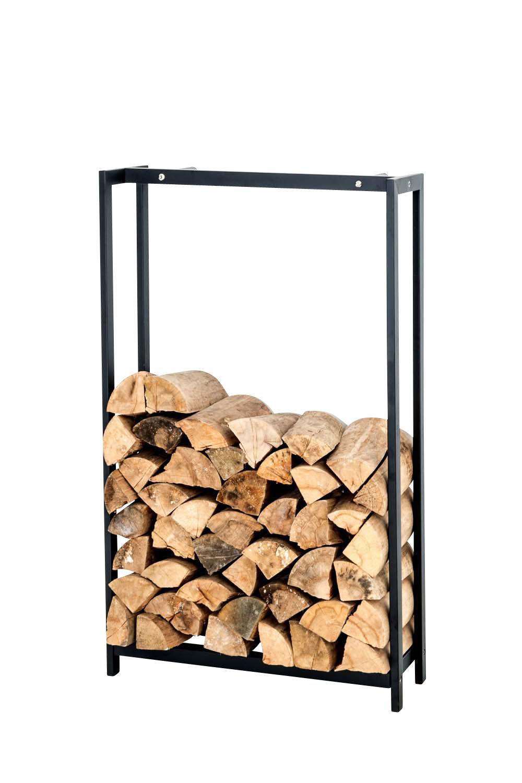 Kaminholzständer Forest-schwarz/matt-100x70 cm | Wohnzimmer > Kamine & Öfen > Kaminholzkörbe | Matt | Bauwerk Manufacture