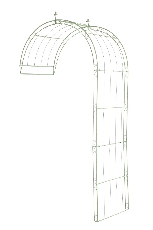 Rosenbogen Pietro Wandbefestigung-antik/grün-130x80x270   Garten > Pflanzen > Pflanzkästen   Grün   CLP