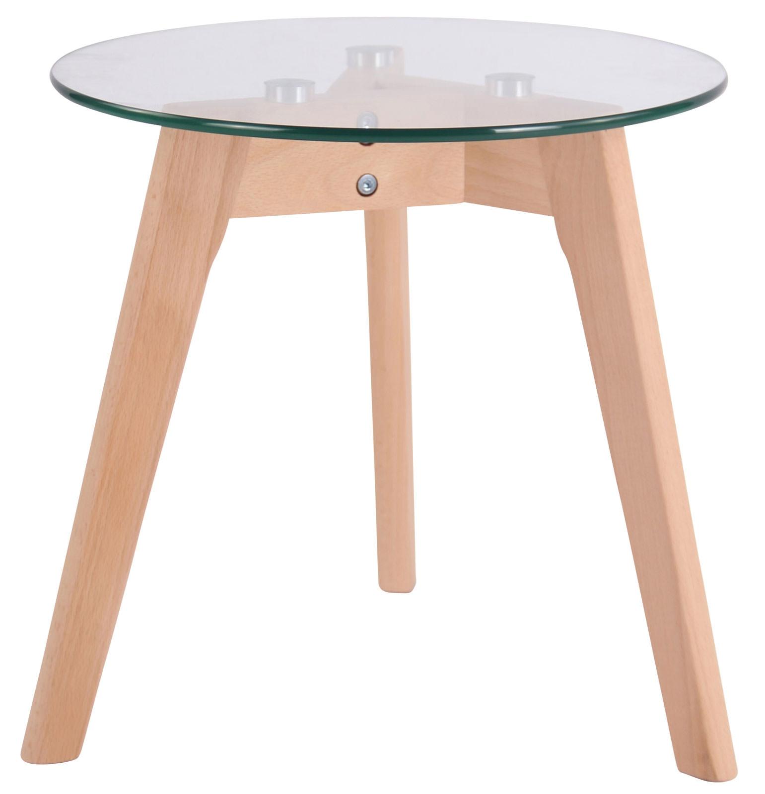 Glastisch Motala-klarglas-Ø 40 cm   Wohnzimmer > Tische > Glastische   CLP
