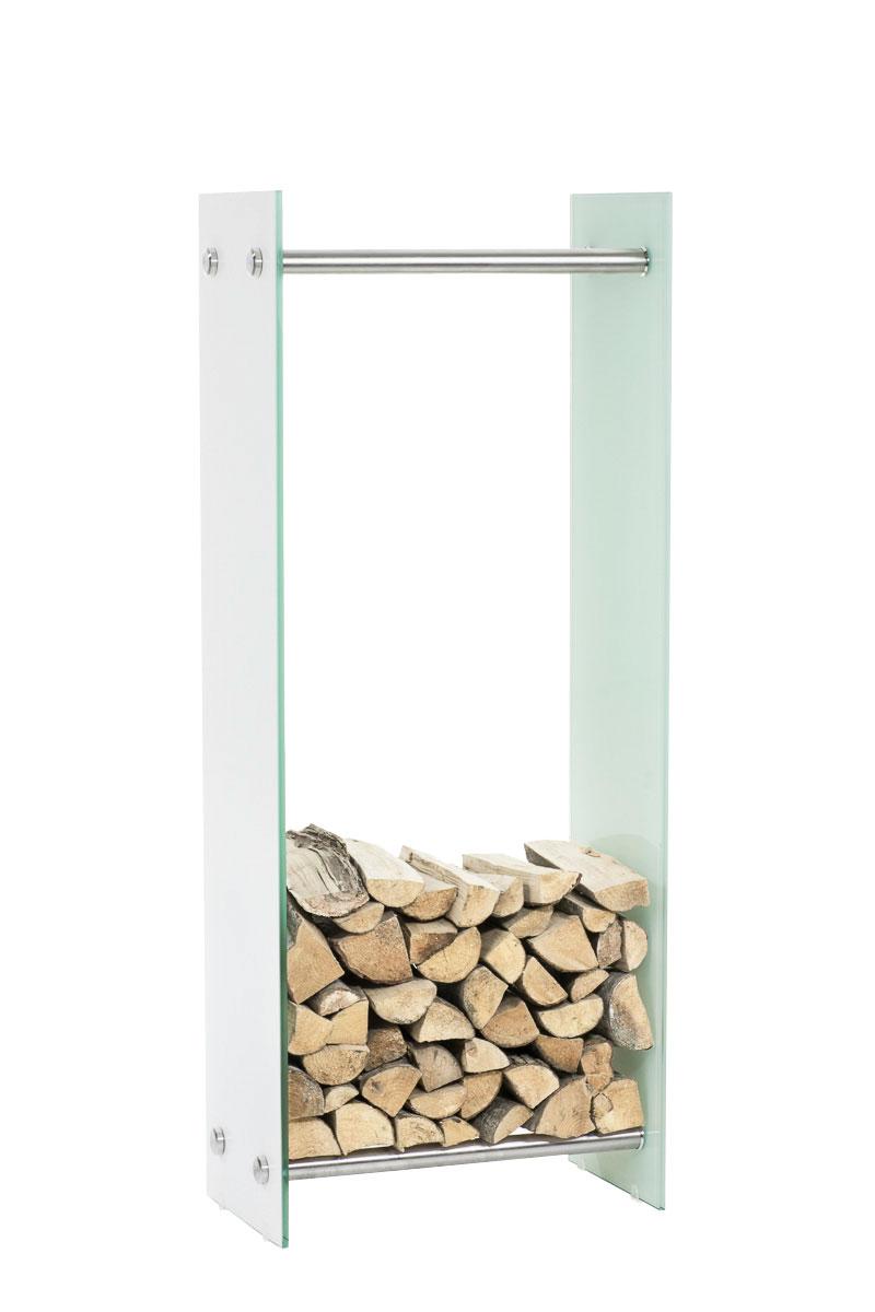Kaminholzständer Dacio Weißglas-35x80x100 cm   Wohnzimmer > Kamine & Öfen > Kaminholzkörbe   Bauwerk Manufacture
