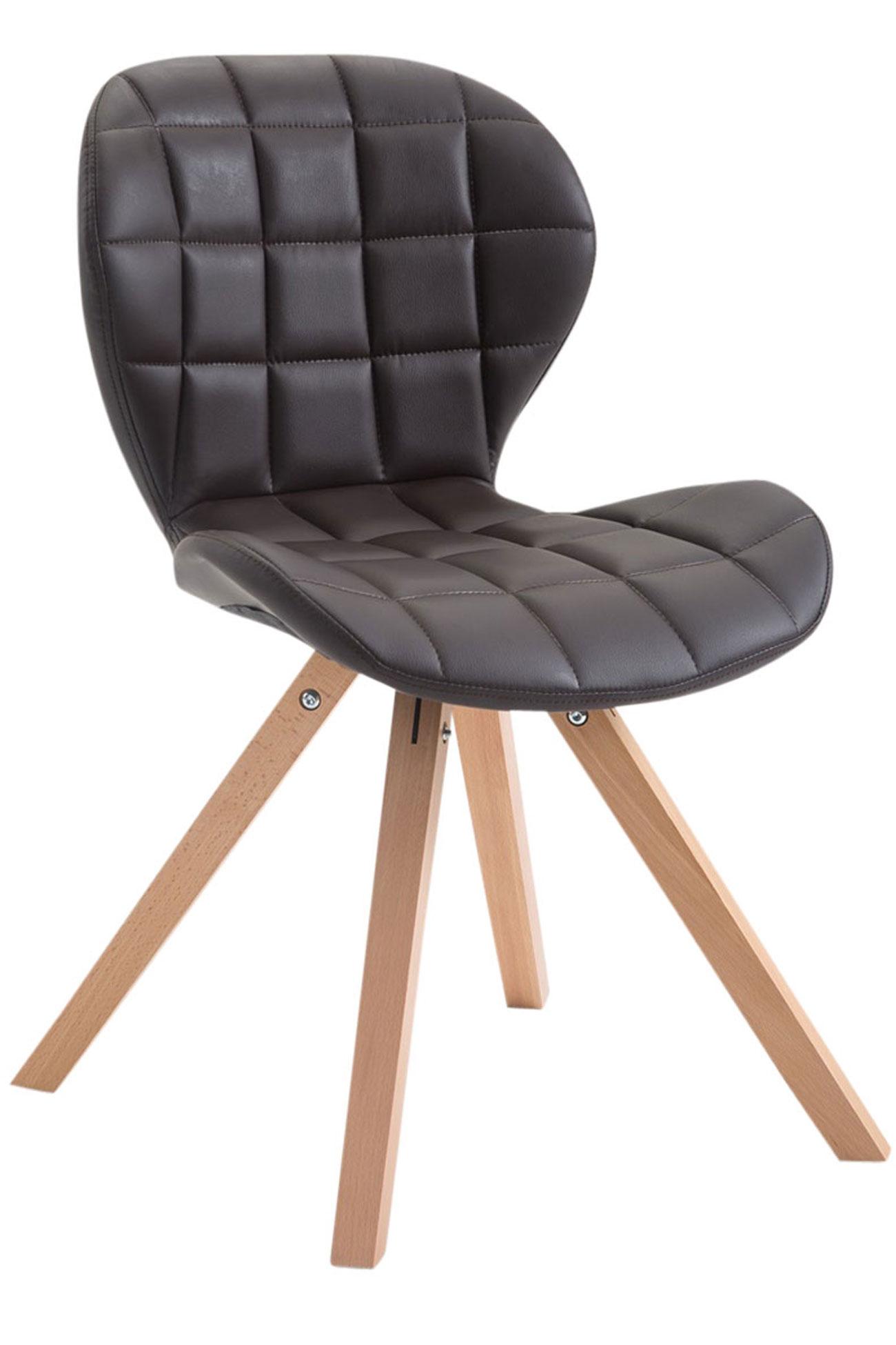 Besucherstuhl Alyssa Kunstleder Square-dunkelbraun-Natura (Eiche) | Büro > Bürostühle und Sessel  > Besucherstühle | Timwood Experience