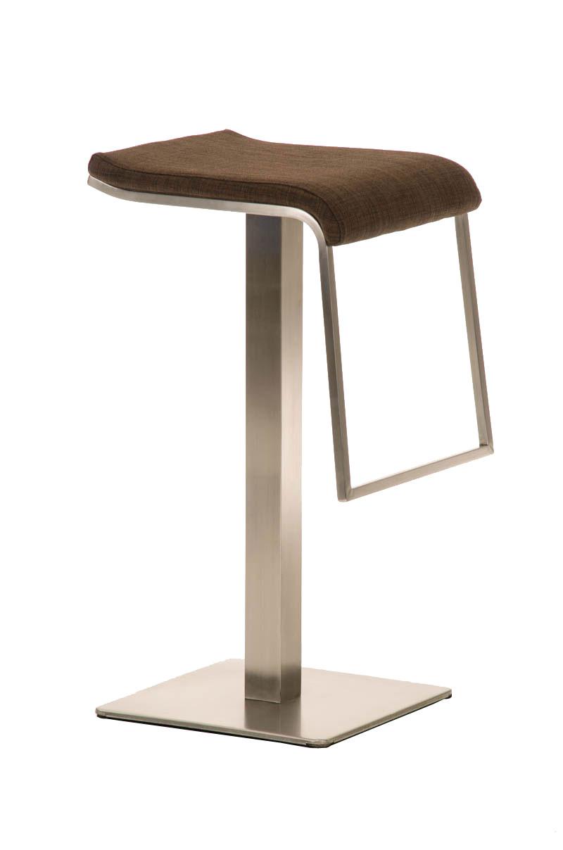Barhocker Lameng E85 Stoff-braun | Küche und Esszimmer > Bar-Möbel > Barhocker | Bauwerk Manufacture
