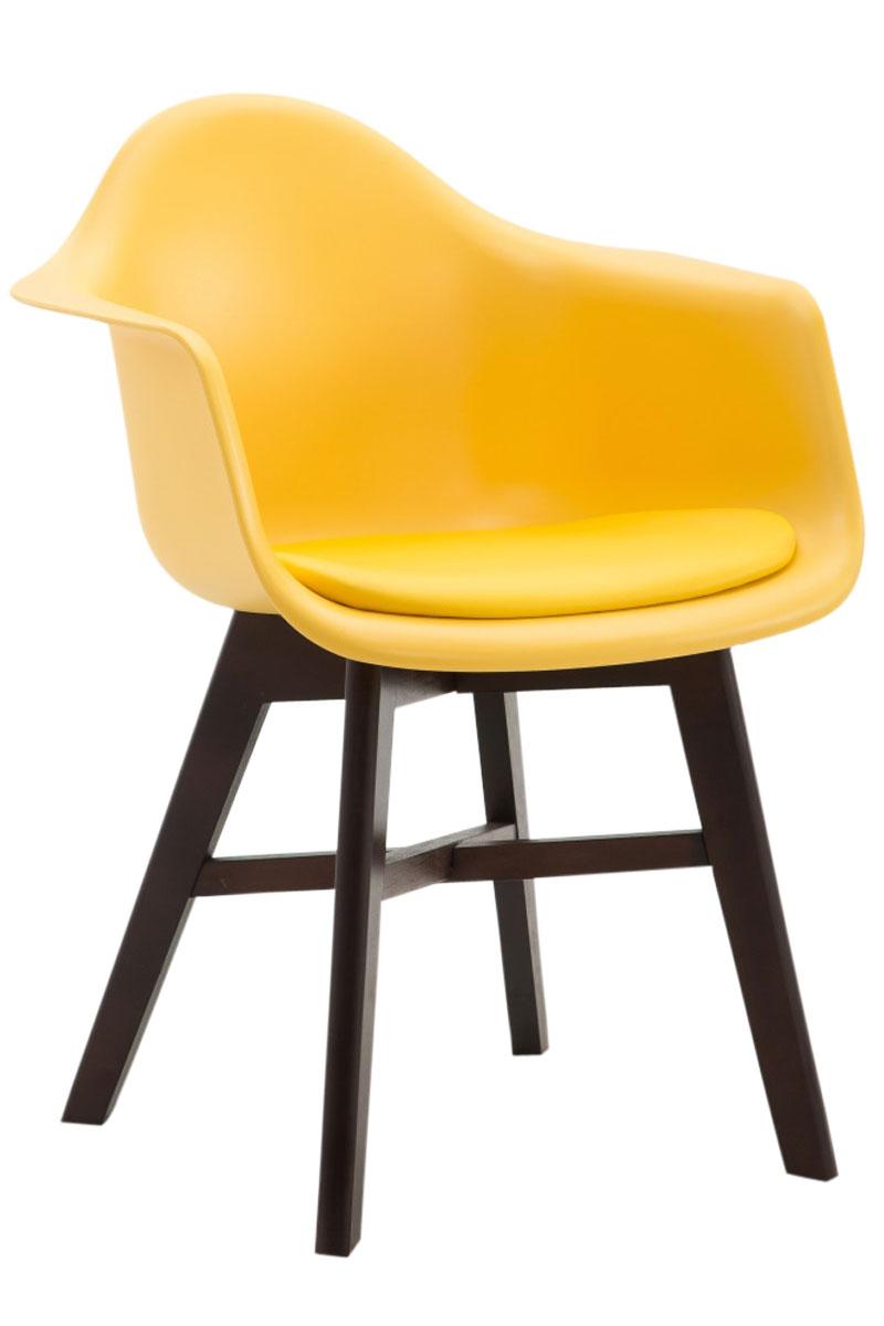 Besucherstuhl Perth Kunststoff Cappuccino Square gelb gelb