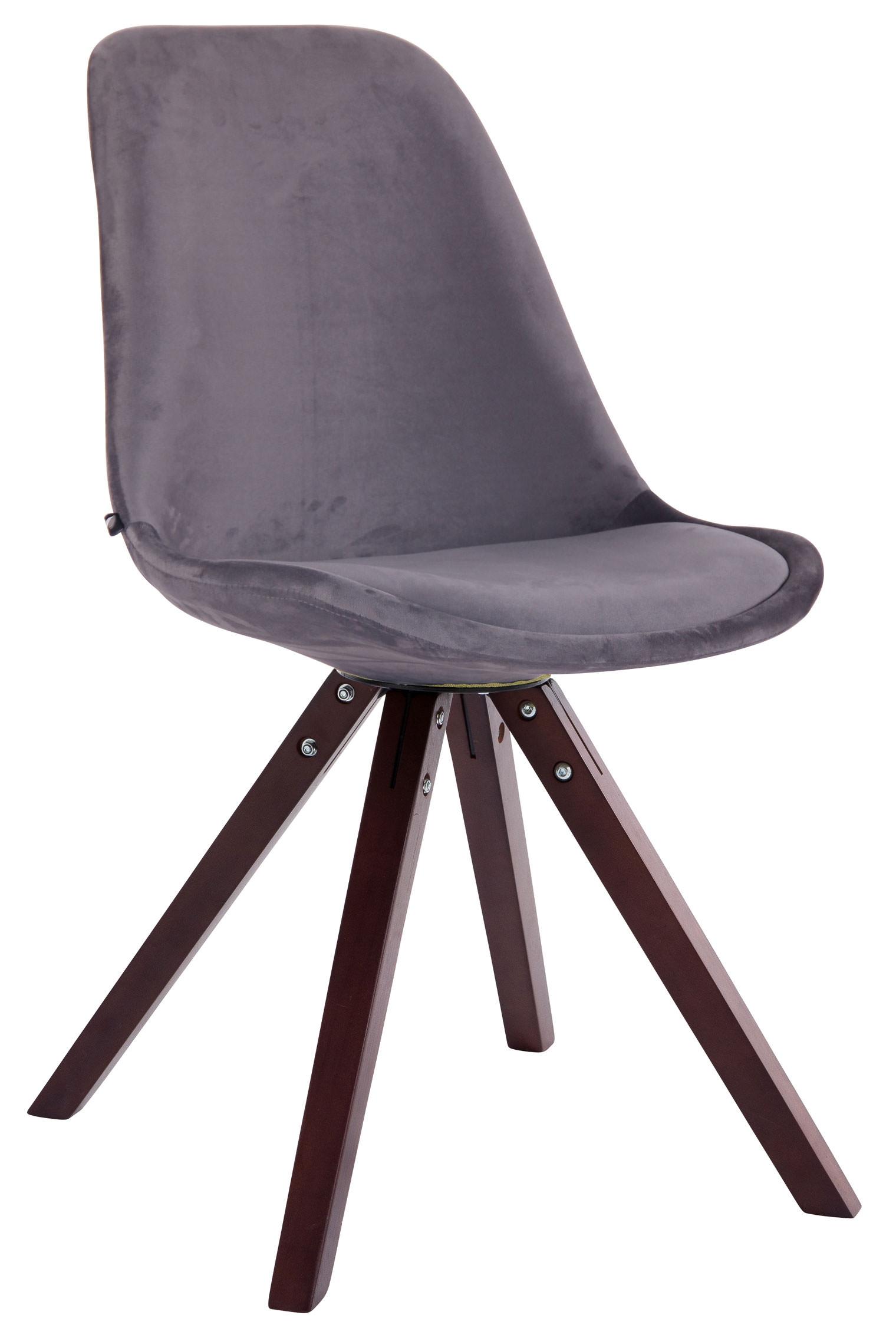 Besucherstuhl Toulouse Samt Square-dunkelgrau-Cappuccino | Büro > Bürostühle und Sessel  > Besucherstühle | Larico Design Möbel