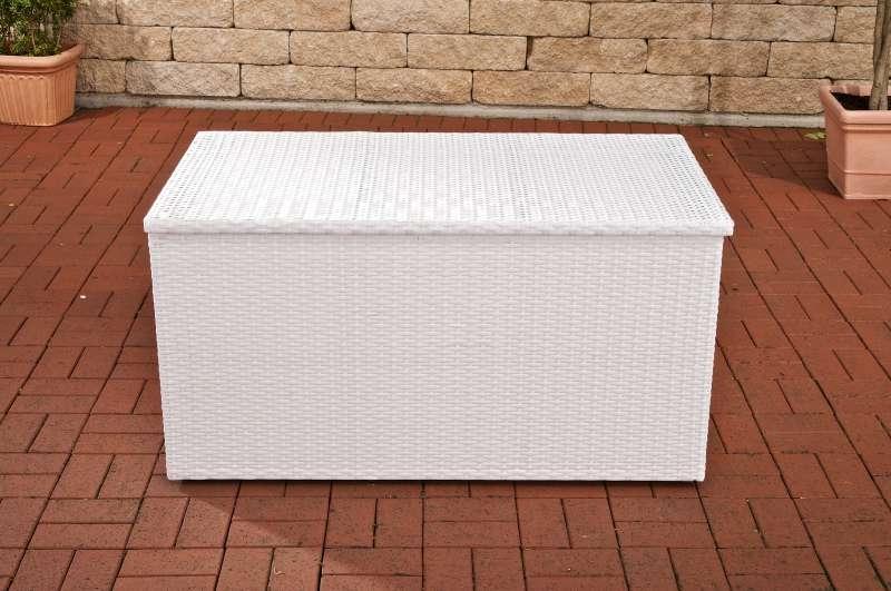 Auflagenbox-weiß/flach-L | Garten > Gartenmöbel > Aufbewahrung | CLP