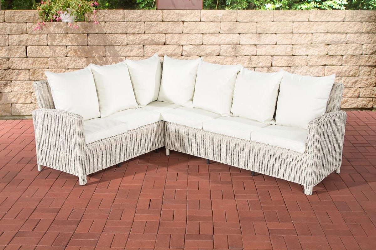 Rundrattan Sofa Bermeo 5mm-rund/perlweiß-Cremeweiß | Garten > Gartenmöbel > Loungemöbel-Garten | Loraville