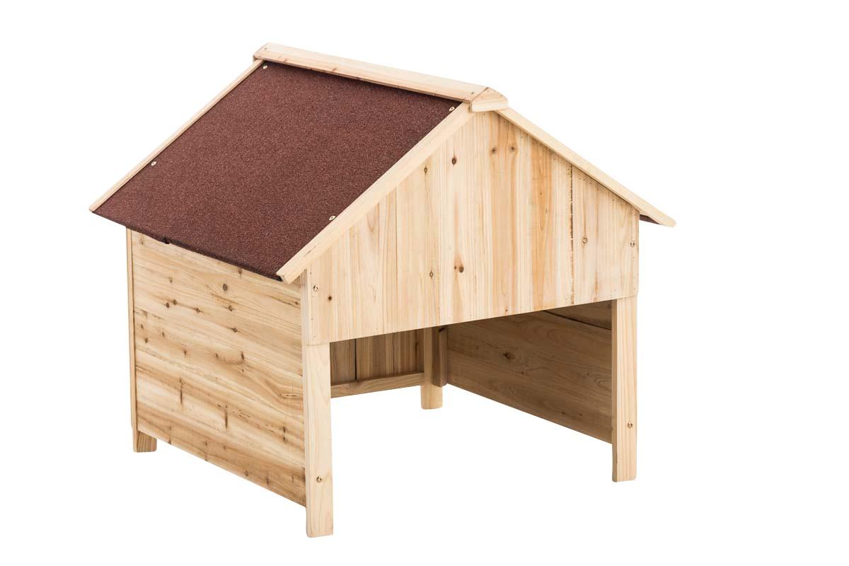 Holzgarage für Rasenroboter
