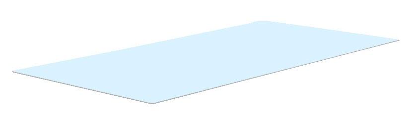 Glasplatte Gartentisch 90x49 cm
