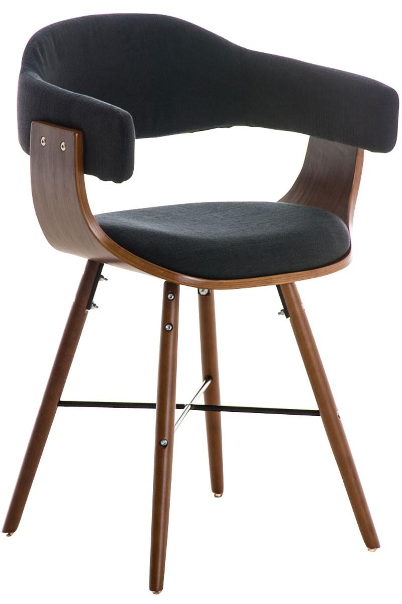 besucherstuhl barrie v2 stoff walnuss clp. Black Bedroom Furniture Sets. Home Design Ideas