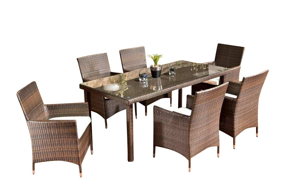 Rattan Esstisch Sitzgruppe Florenz