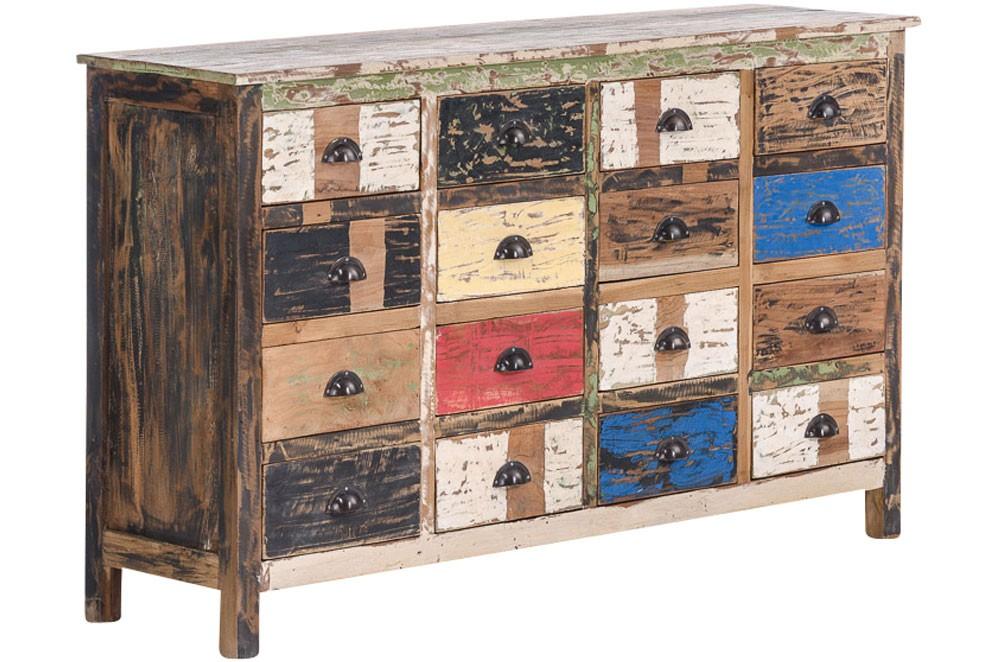 buntes Teakholz Sideboard Lars, ca. 150x40cm