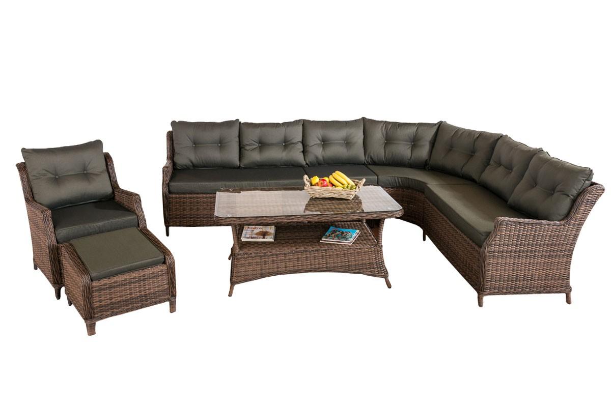 rundrattan sitzgruppe pandora 5mm sitzgruppen gartenm bel garten clp. Black Bedroom Furniture Sets. Home Design Ideas