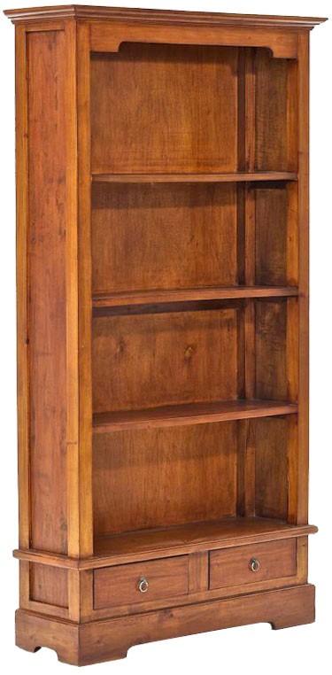 Holz Bücherschrank Primus, Landhausstil, ca. 180 x 100 x 30 cm