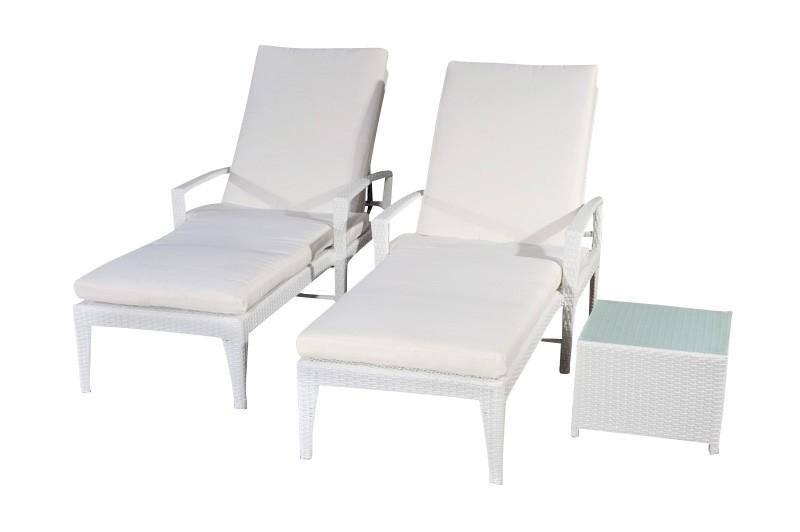 2x Sonnenliege Costa mit Tisch