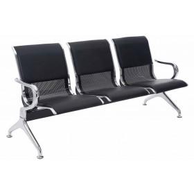 3er Wartebank Airport Kunstleder