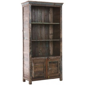Shabby Chic Bücherschrank Simran, Größe 180 x 90 x 42 cm, Holz