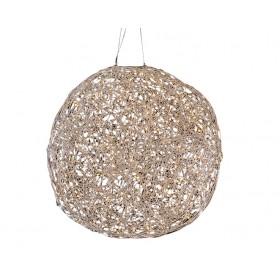 Design LED Hänge-Leuchtkugel Diamond, Aluminium