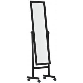 Standspiegel Yolanda mit Rollen, eckig 150x45 cm