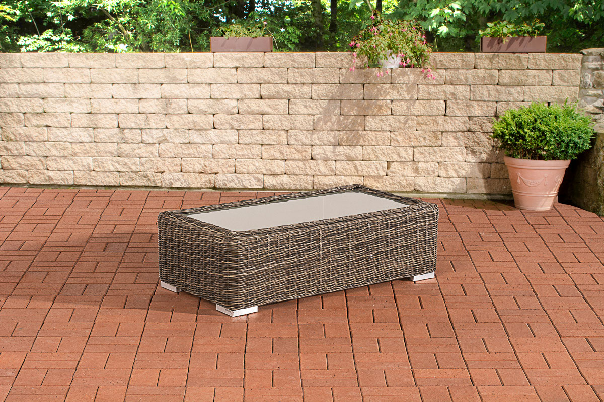 Glastisch Madeira 110 x 60-rund_graumeliert | Wohnzimmer > Tische > Glastische | Loraville