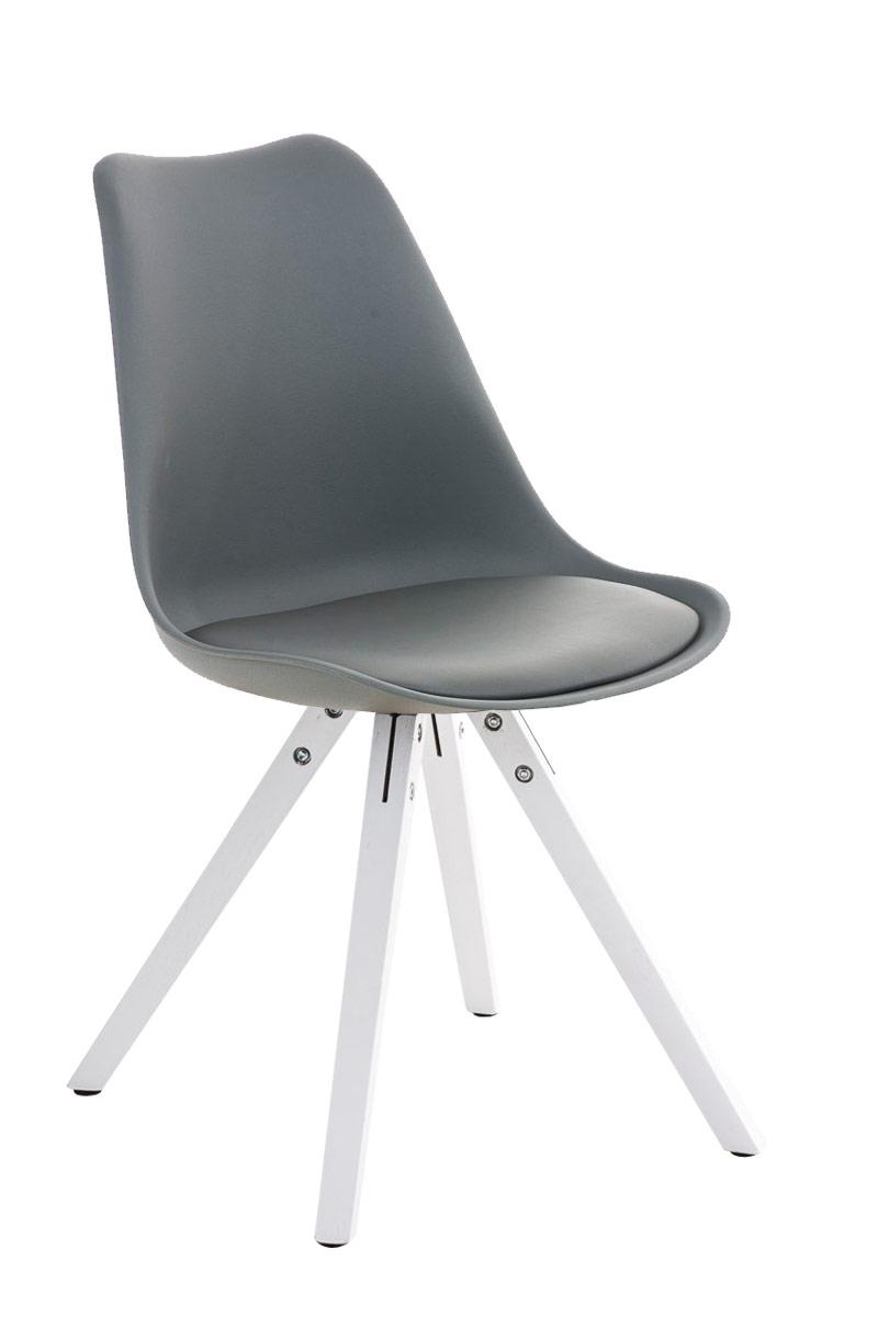 Besucherstuhl Pegleg Square weiß-grau | Büro > Bürostühle und Sessel  > Besucherstühle | Larico Design Möbel