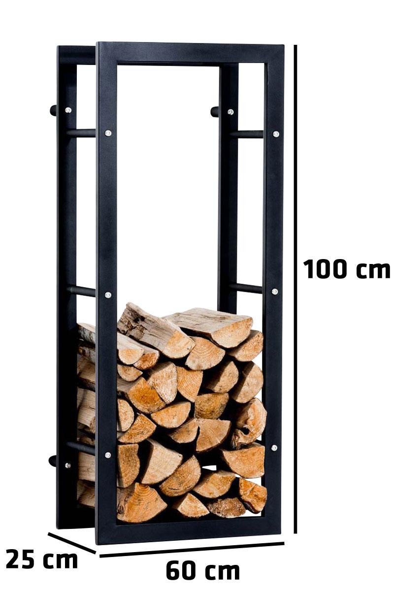 Kaminholzständer Keri Wand V3-25x60x100 cm | Wohnzimmer > Kamine & Öfen | CLP