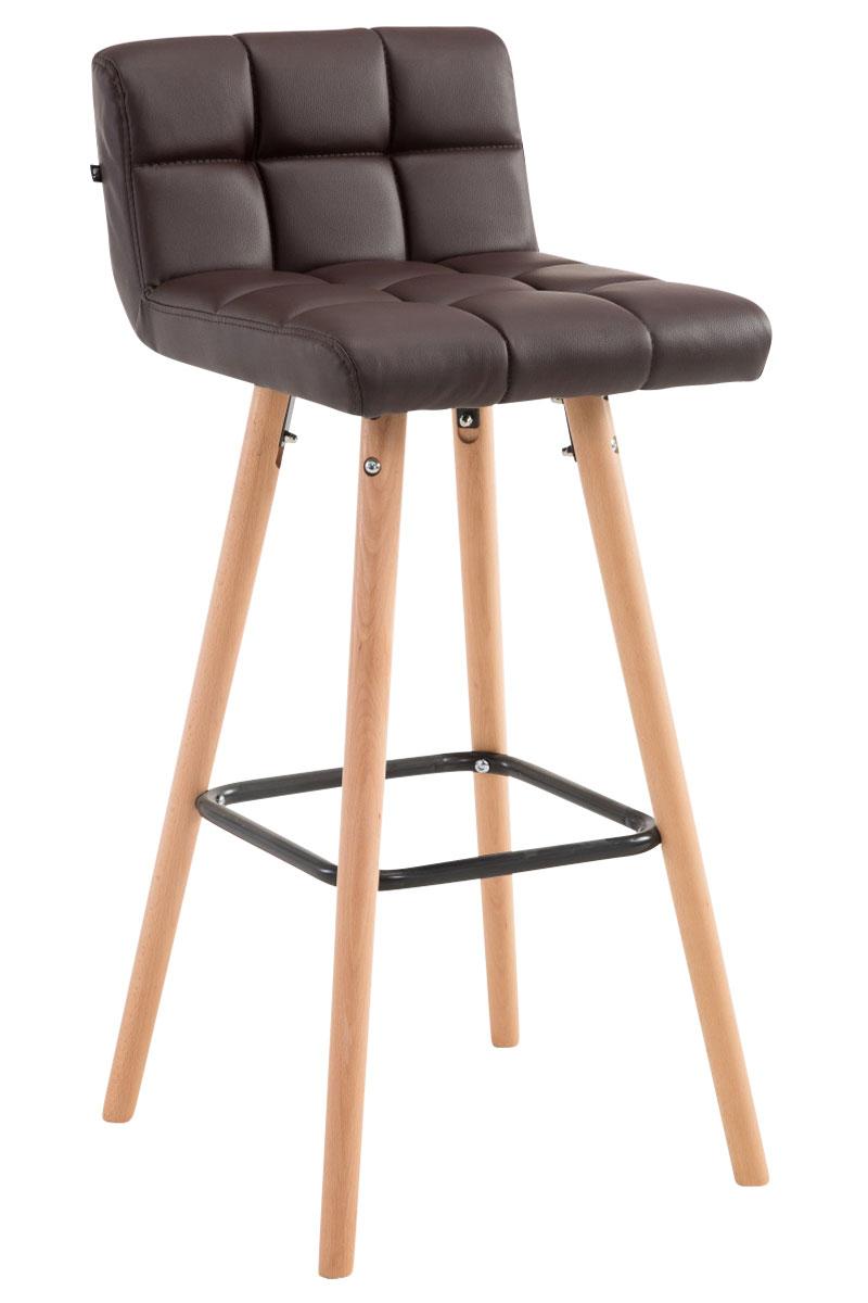 Barhocker Lincoln V2 Kunstleder-braun-Natura | Küche und Esszimmer > Bar-Möbel > Barhocker | Timwood Experience