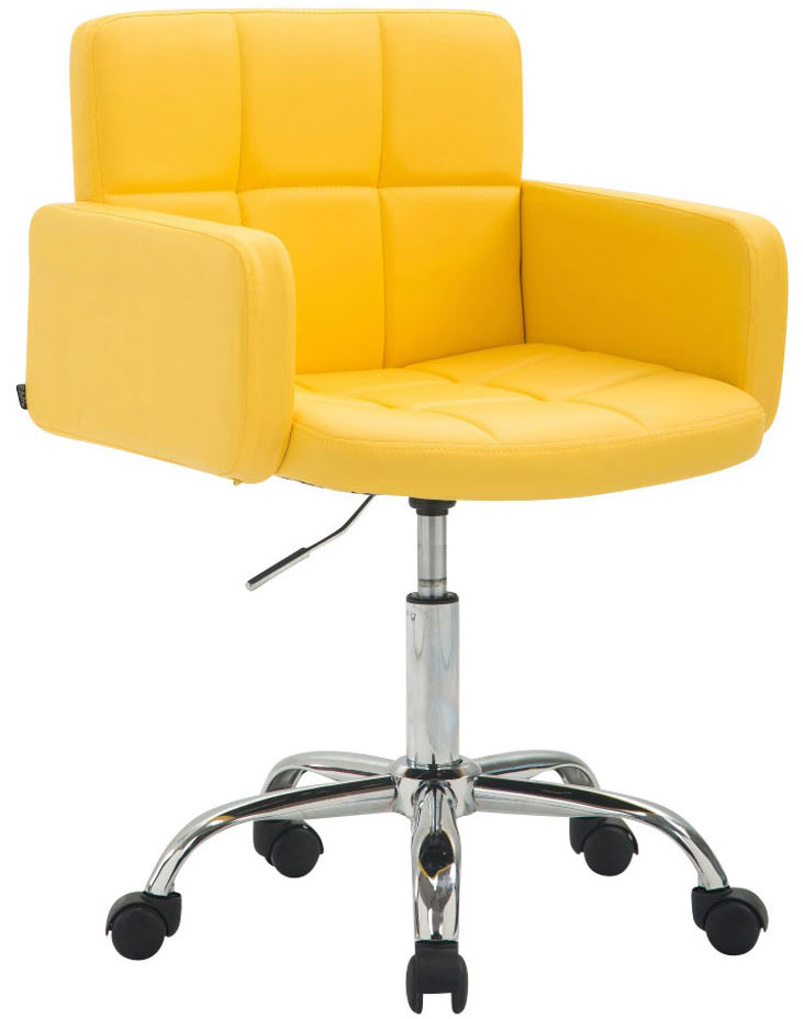 Arbeitshocker Los Angeles Kunstleder-gelb | Büro > Bürostühle und Sessel  | CLP